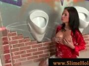 Glam blasted at a gloryhole