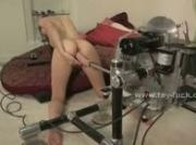 Teen babe tricked and made to test electric strange fucking machi
