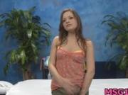 Stunning nude teen rides dick