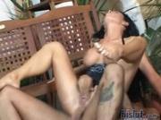 Cintia pulls off her panties
