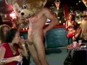 CFNM stripper sucked by amateur babes at CFNM Party