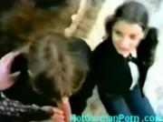 Classic german scene with 2 schoolgirls getting fucked
