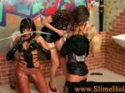 Lesbians wam oral fun at gloryhole