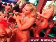 Babes get loose with booze at an orgy