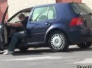 Blond cock slapped in public