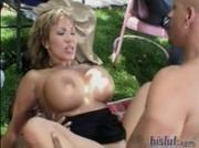 Ava gets banged around in the backyard