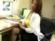 Nasty asian slut in stockings