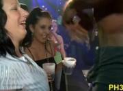 Blonde girl sucking dick with cream