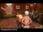 Lesbians introducing pussy eating train on the floor