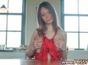 Red panties and skinny super girl
