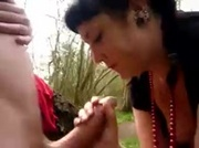 Blowjob UK Chick In Woods