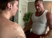 Tattooed hunk gets anus stuffed with glass toy 3 by GotRub