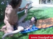 Young girl sucks and fucks grandpa Ron Jeremy