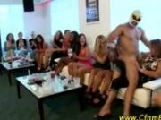 CFNM stripper sucked in public at CFNM party