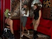 Domina practicing tt on a worthless sissy