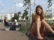 Russian Babe Public Exposure