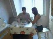 Russian Teen Fuck Hard In The Kitchen