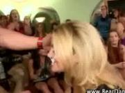 Cfnm blonde gets a facial after sucking cock