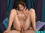 Slutty teen enjoys xxl dp
