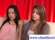 Mean cfnm girls testing out cock with a dick pomp