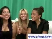 Cfnm girls teasing naked men