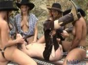 These beautiful cowgirls have big boobs