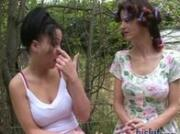 Jessica and Luna had sex outdoors