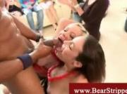 Cfnm ladies give stripper blowjob