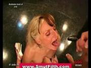 Bukkake fetish german slut cum facial