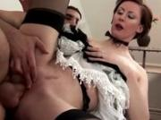 Dirty mature maid screwed vigorously