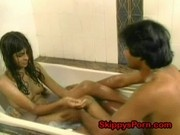 Shy Indian teen in the shower