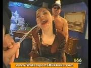 Pissing bukkake Gangbang
