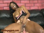 Hypnotiq gets a hard white dick in her butt