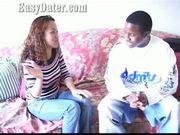 Easydater - black dude drinks all her brandy, fucks her then