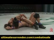 Female fucking battle on the mat