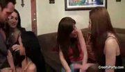 Cute brunette breanne gets a stripper for a gift