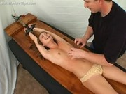 Alexis tickled in the rack