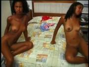 threesome ebony anal
