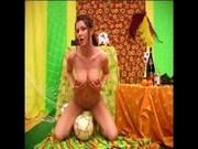 Female Football fan Masturbates