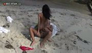 Hot girl getting fucked on the beach