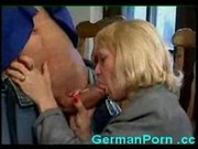 Horny german housewife fucks a big cock