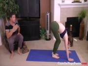 Red Headed Step Sister in Yoga Pants PREVIEW