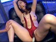 Girl In Red Lingerie With Tied Arms Ball In Mouth Getting Her Nipples Pinched Pussy Stimulated Fucke