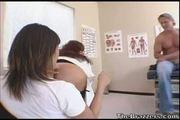 Ava devine and sexy vanessa in doctor nurse anal threesome