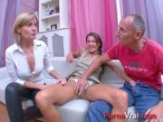 Two girls and one boy violent orgasm French amateur