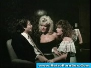 Amber Lynn in sizzling 1980s retro threesome