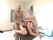 blonde cheerleader rammed hard by her teacher
