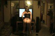 Hot mature wife dances