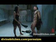 Femdom bdsm threesome toilet humiliated male slave