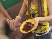 cum on food - japanese jelly
